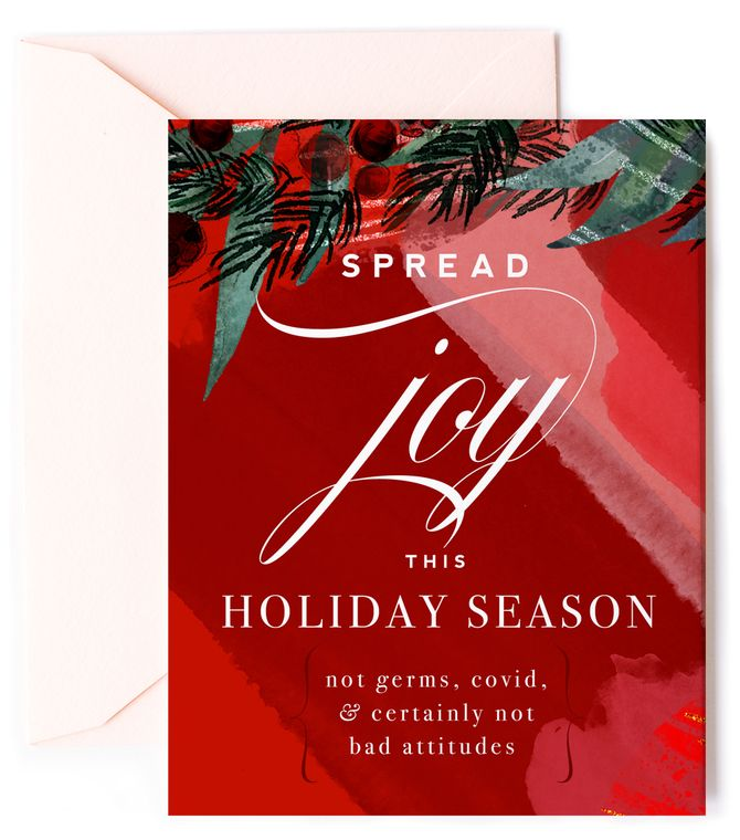 Spread Joy, not Germs This Holiday -  Holiday Card