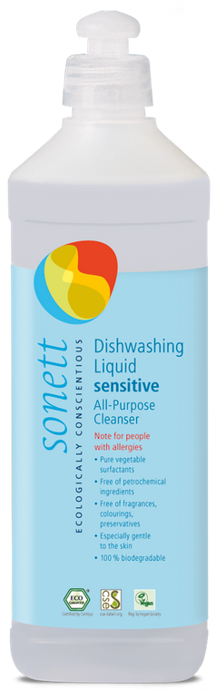 Sonett Eco Sensitive Dishwashing/All purpose Cleanser 17 fl oz / 500 ml