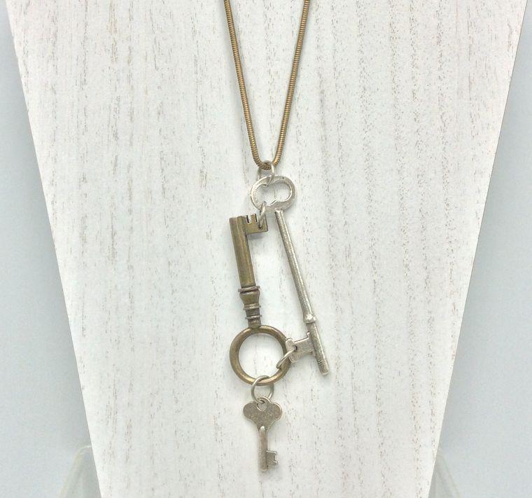 Keys of Old Pendant Necklace