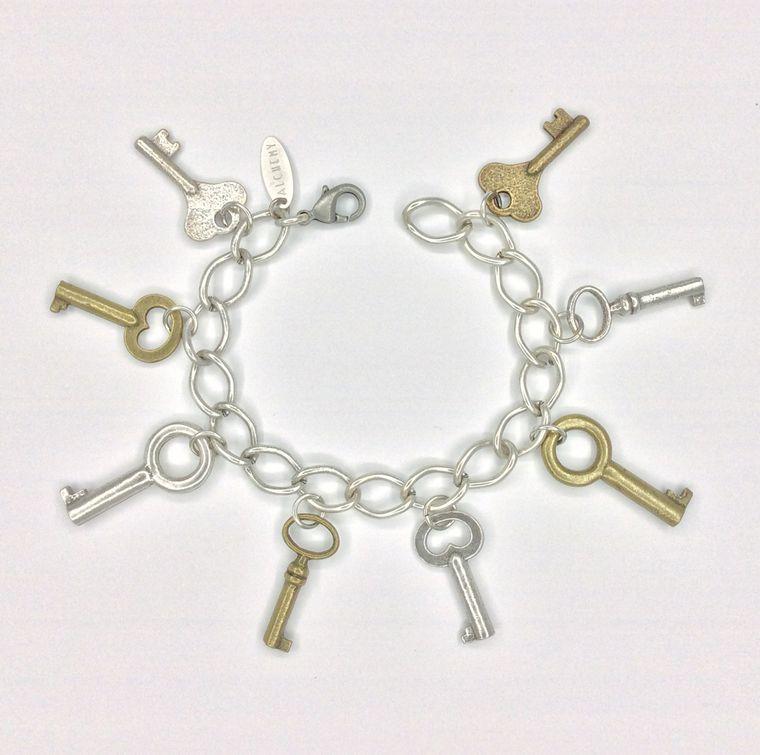 Keys of Old Charm Bracelet - 1585
