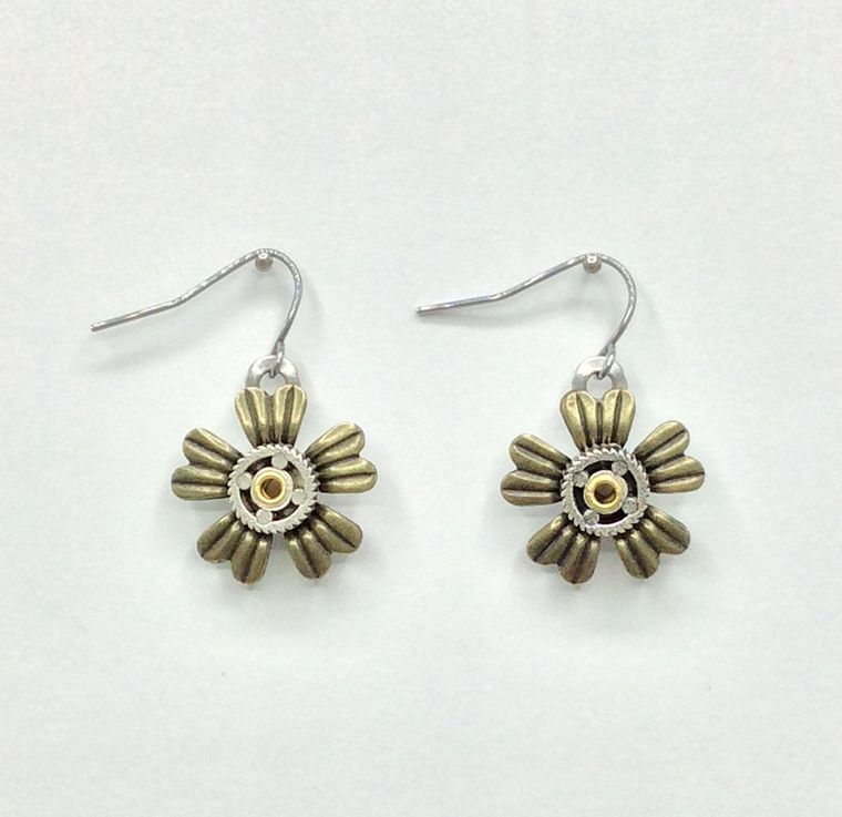 Mechanical Botanical Earrings - 3285
