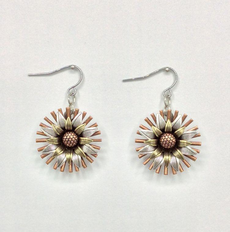 Mechanical Botanical Earrings - 3420