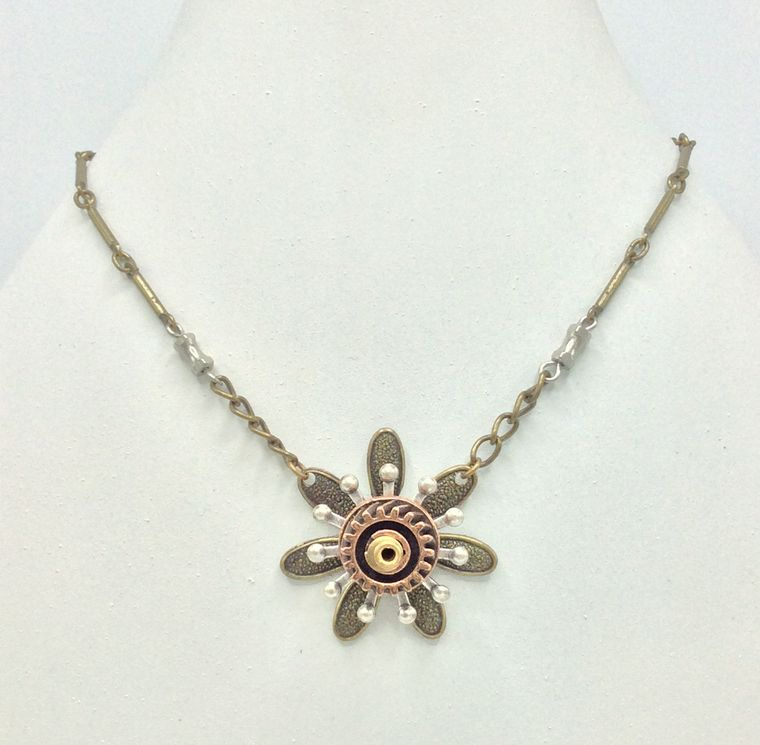 Mechanical Botanical Necklace - 4647