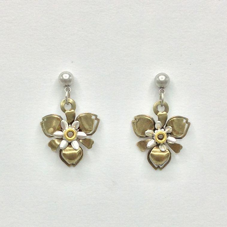 Mechanical Botanical Earrings - 3322
