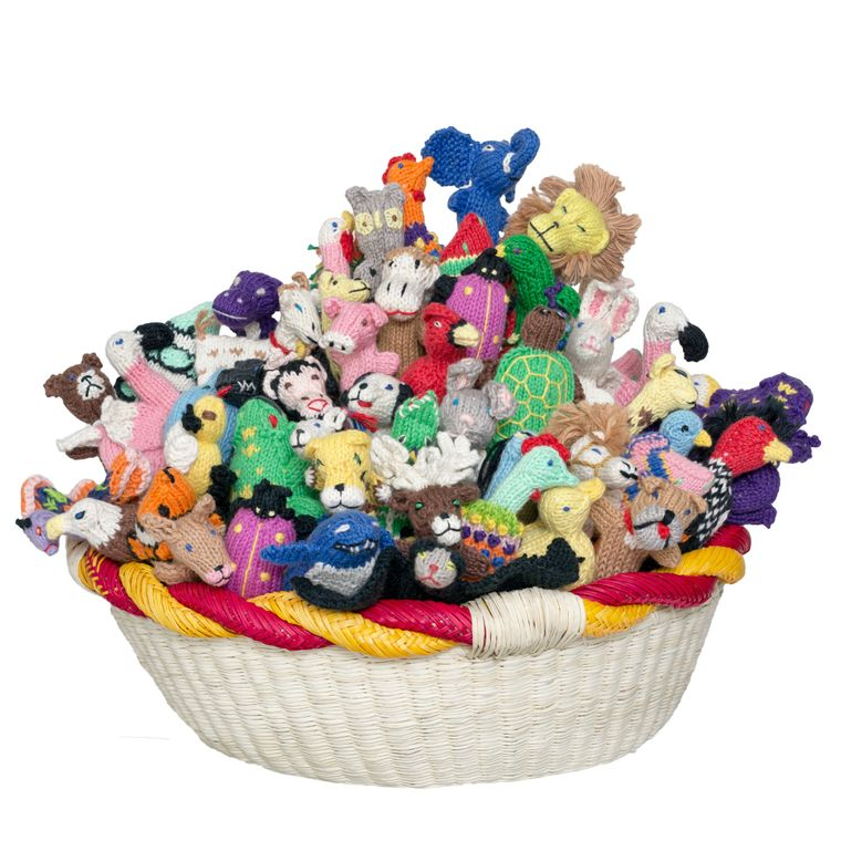 Animal Mix Organic Cotton Finger Puppets (sold in 100's)
