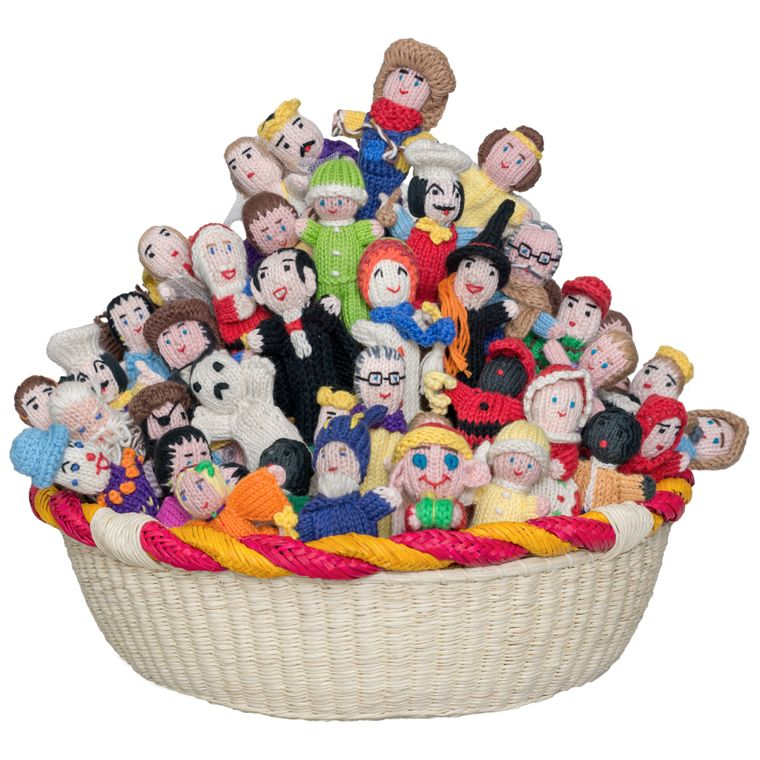 People Mix Organic Cotton Finger Puppets (sold in 50's)
