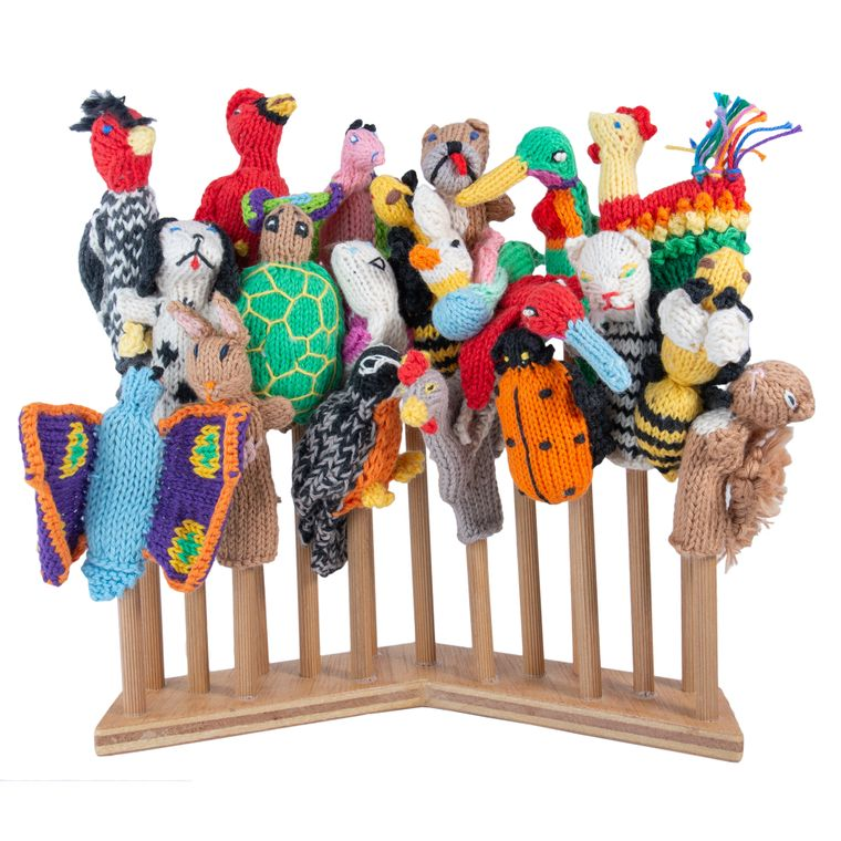 Garden Animal Mix Organic Cotton (sold in 50's) Finger Puppets