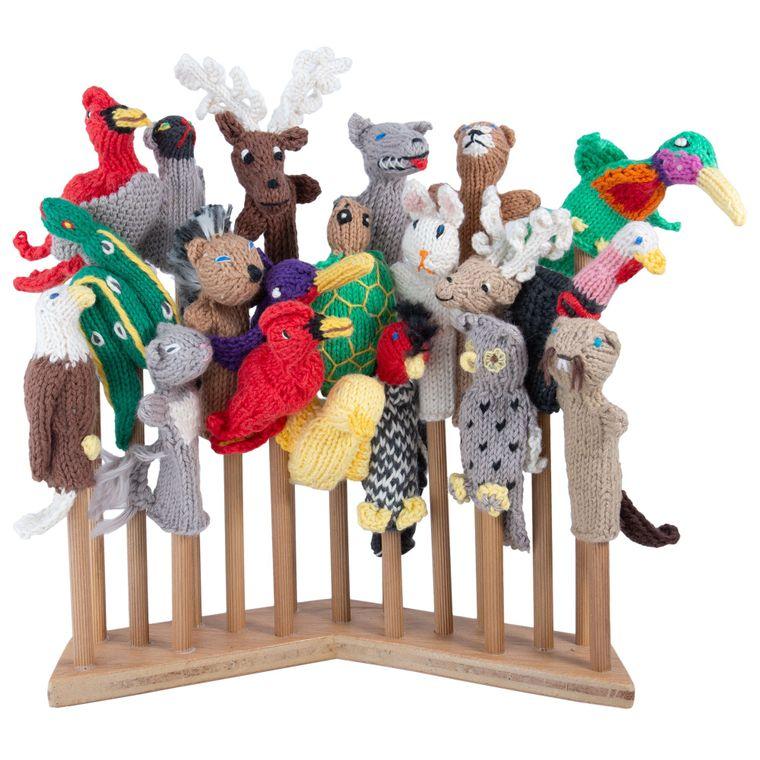 Forest Mix Organic Cotton (sold in 50's) Finger Puppets