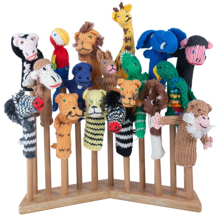 Zoo Animal Mix Organic Cotton (sold in 50's) Finger Puppets