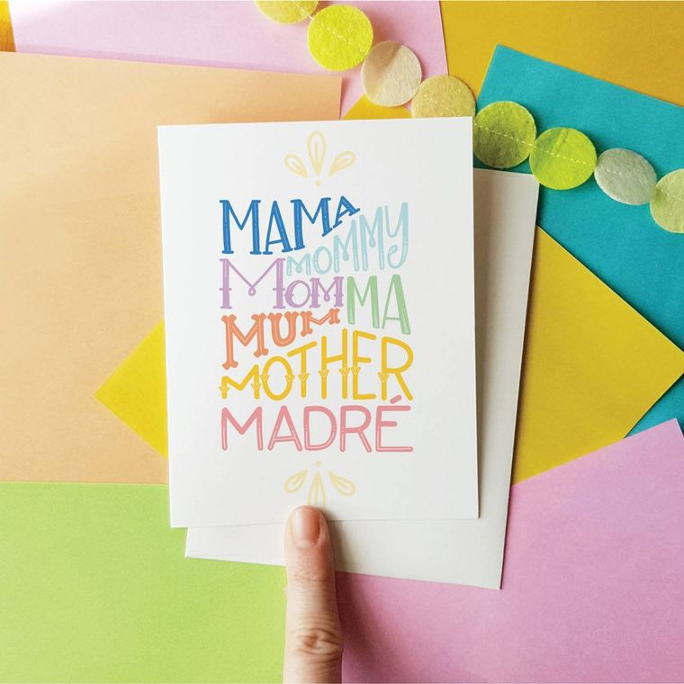 Mama Mommy Mom card Mother's day New mom
