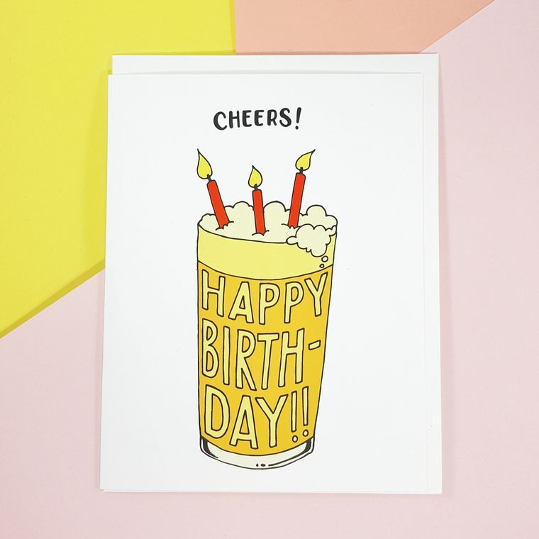 Beerday Happy Beerday! Birthday card funny friend 21st greeting card