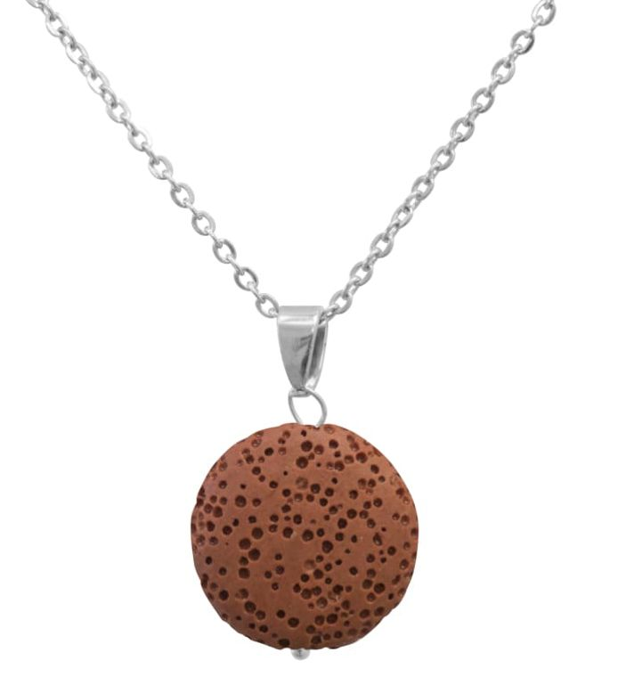 Red Lava Stone Essential Oil Necklace