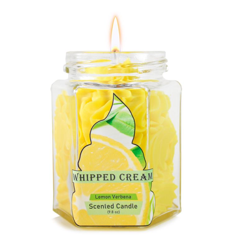 Lemon Varbena Dolce: Whipped Cream Yellow candle