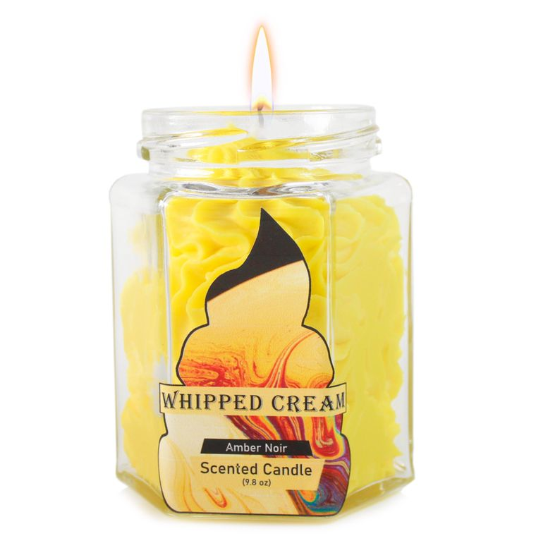 Amber Noir Dolce: Whipped Cream yellow candle