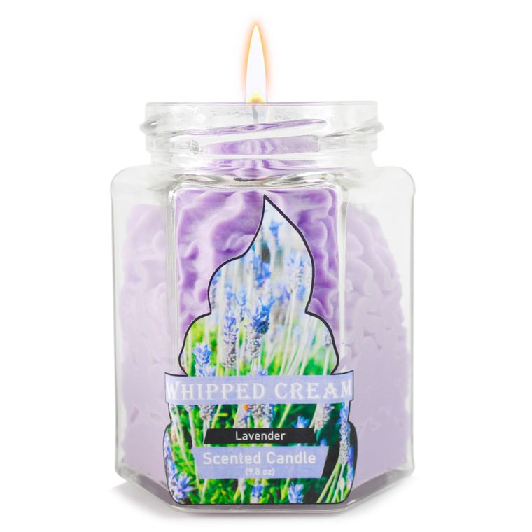 Lavender Dolce: Whipped Cream Purple candle