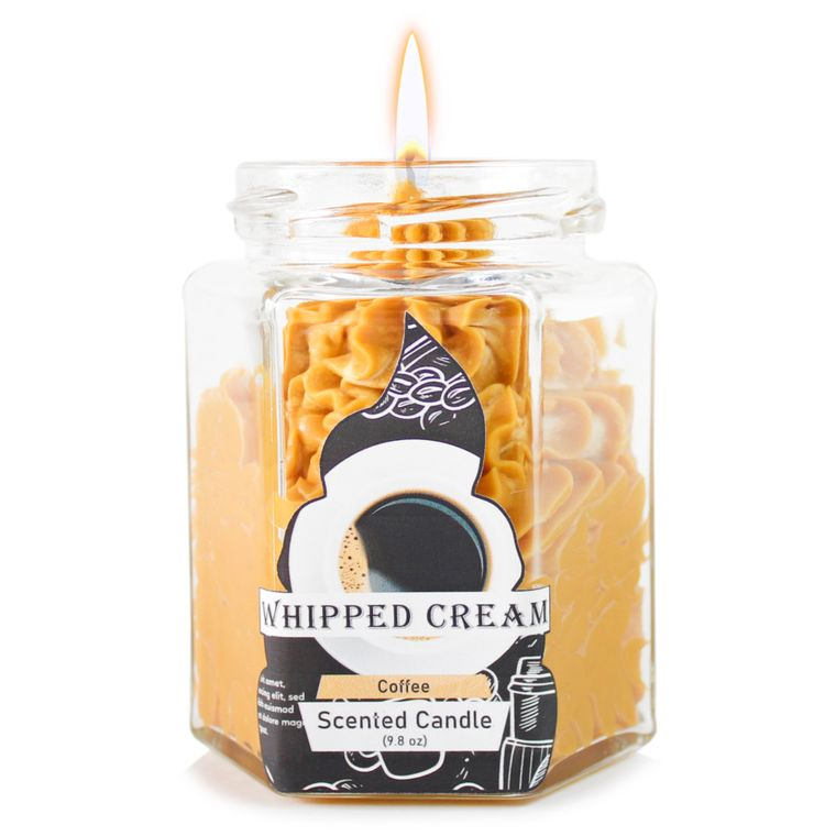 Brown Coffee Dolce: Whipped Cream Brown candle