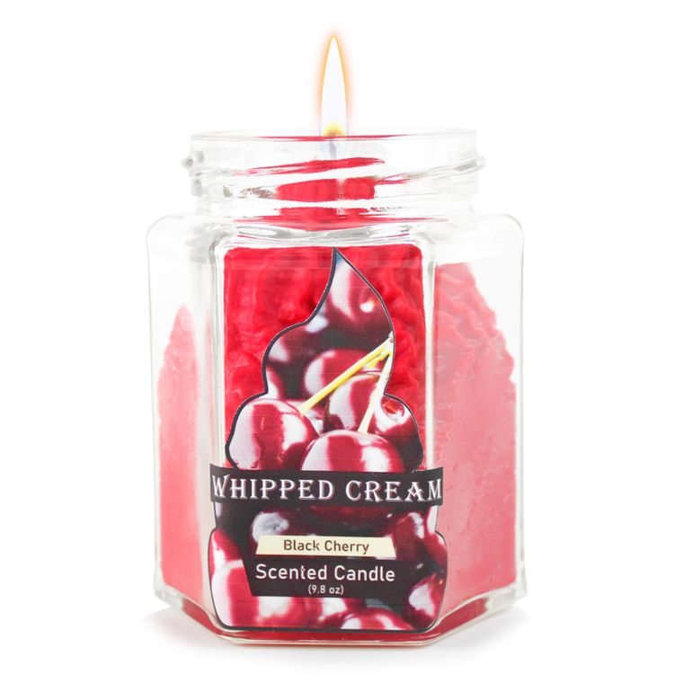 Black Cherry Dolce: Whipped Cream Red candle