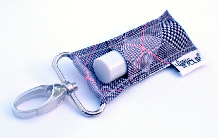 Houndstooth Check LippyClip Lip Balm Holder