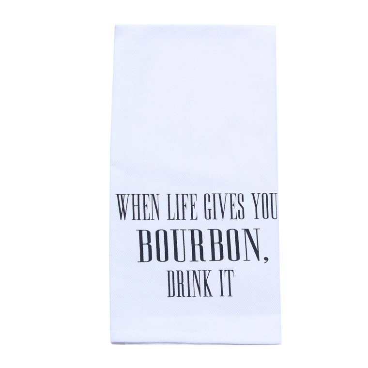 When Life Gives You Bourbon Tea Towel - Alcohol Gift - Bar