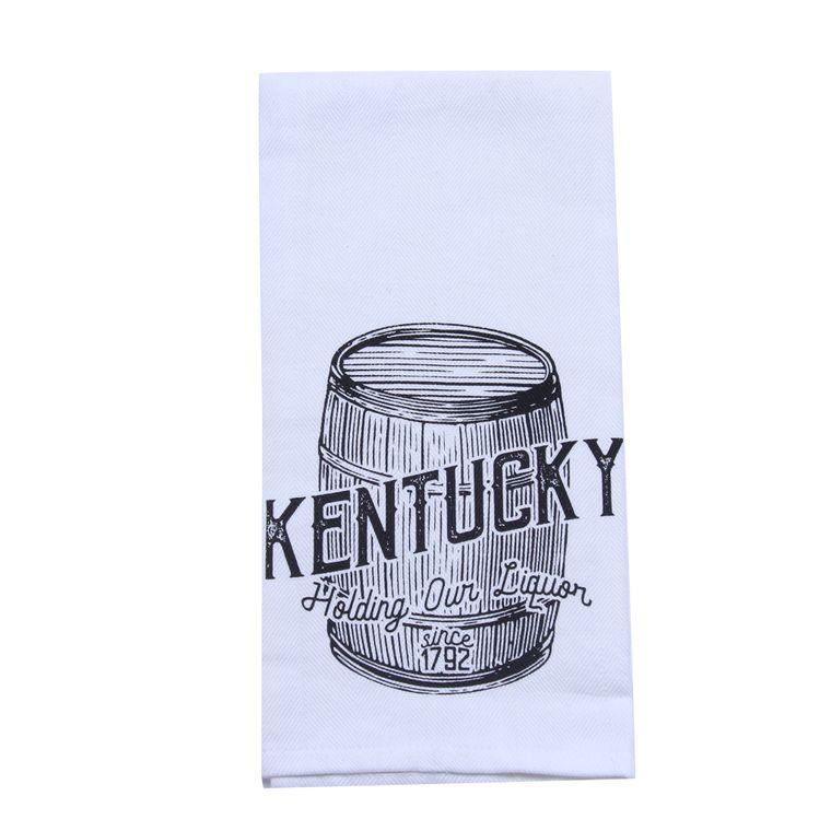 Holding Our Liquor Tea Towel - Alcohol Gift - Bar