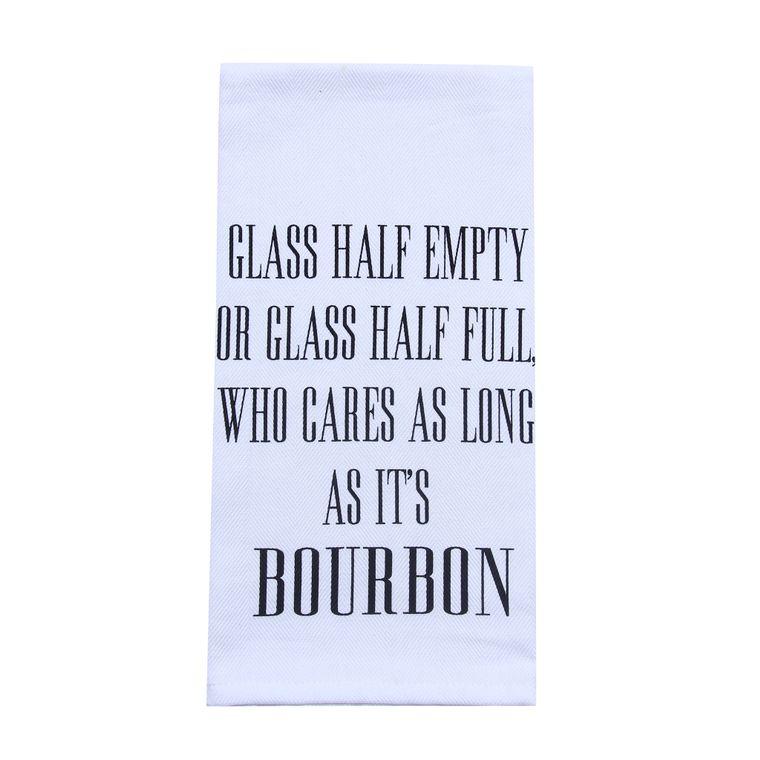 Bourbon Gift - Alcohol Gift - Bar - Glass Half Empty