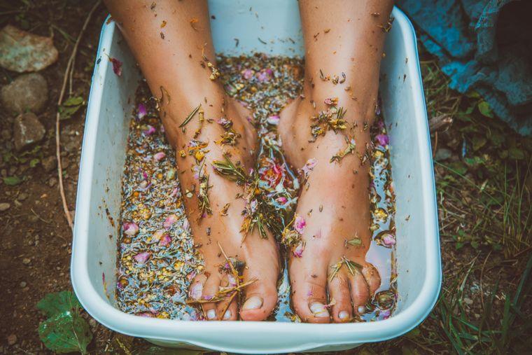 Organic, healing Foot Bath Salts