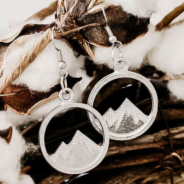 Handmade Pewter Earrings- Mountain Top Jewelry