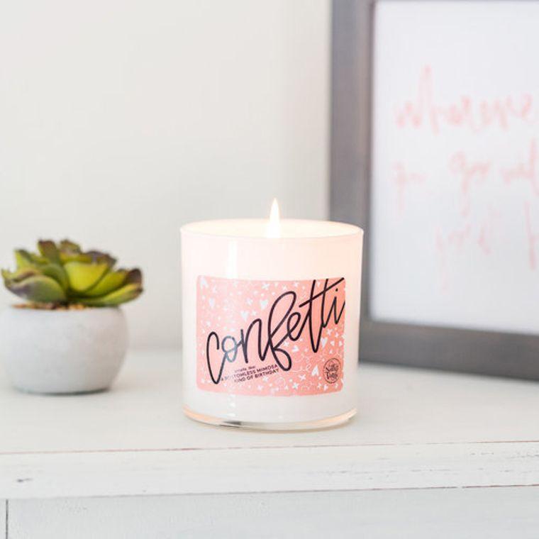 Confetti Candle