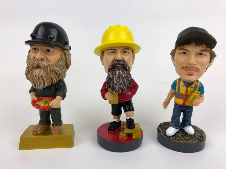 GOLD RUSH Bobblehead Set