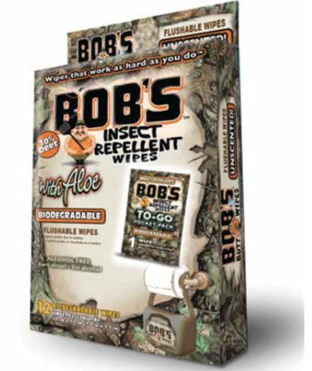 Bob's Insect Repellent To-go Wipes 12-Pack