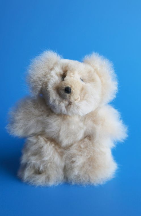 Alpaca Stuffed Honey Bear Small