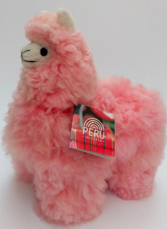 Alpaca Stuffed Llama Pink