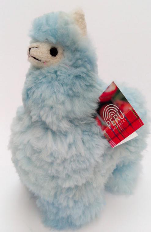 Alpaca Stuffed Llama Baby Blue