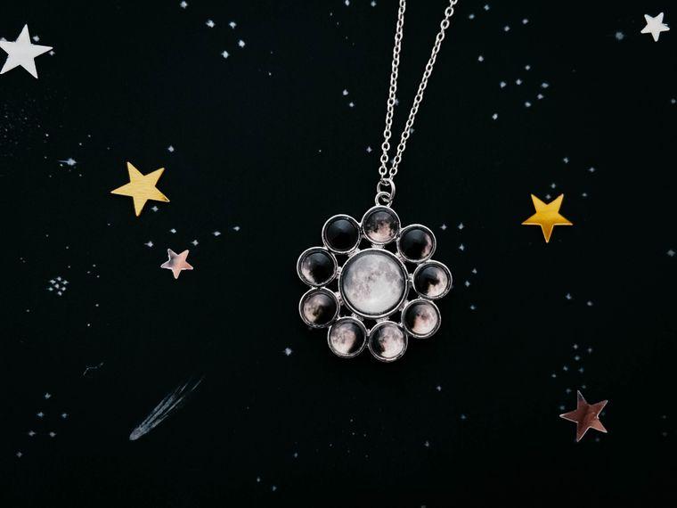 Moon Phase Halo Necklace