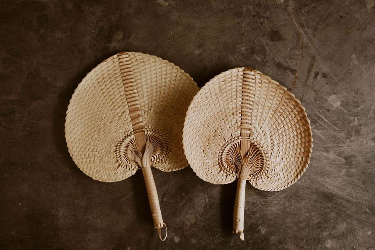 Woven Paradisio Fan in Blonde - large