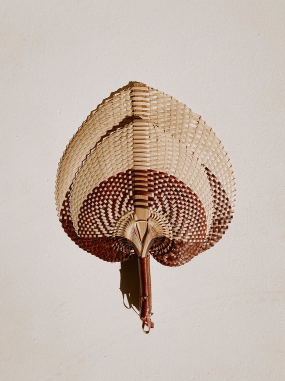 Woven Paradisio Fan in Clay Ombre - large