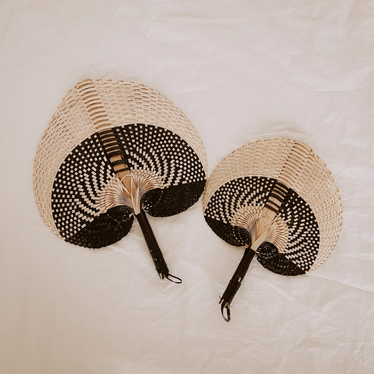 Woven Paradisio Fan Black Ombre - large