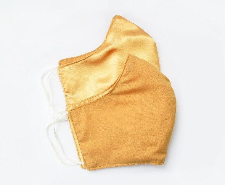 Liquid Gold Reversible Face Mask, Adults and Teens Size