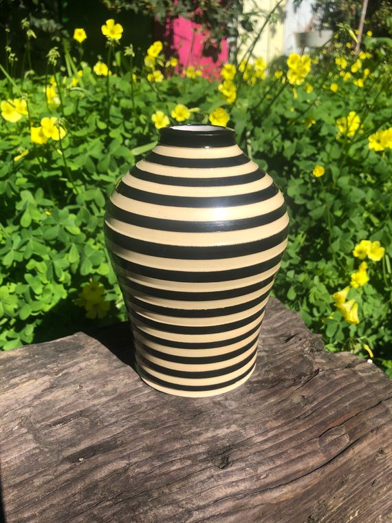 Striped Bud Vase - Made to Order