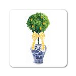 Lemon Topiary w/bow Coasters  (Set of 24) in Gift Box