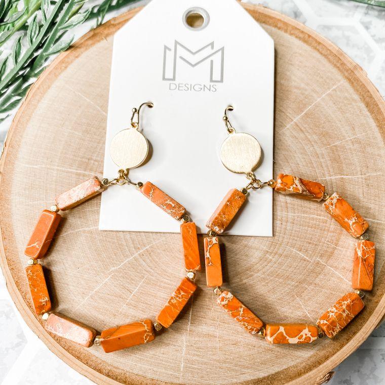 Stoney Earrings - Orange