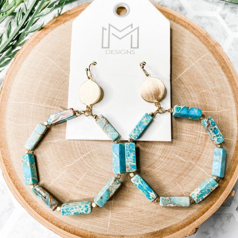 Stoney Earrings - Turquoise