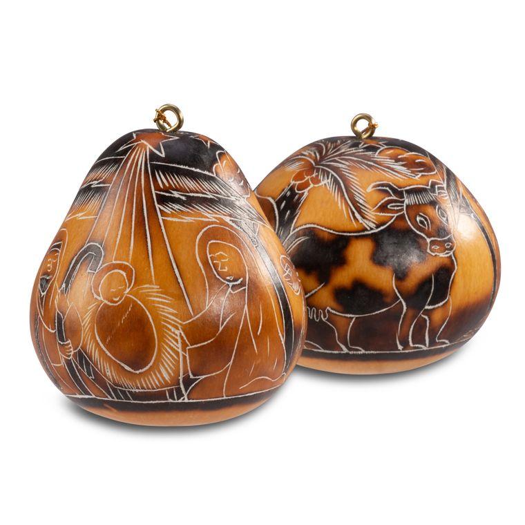 Nativity - Gourd Ornament