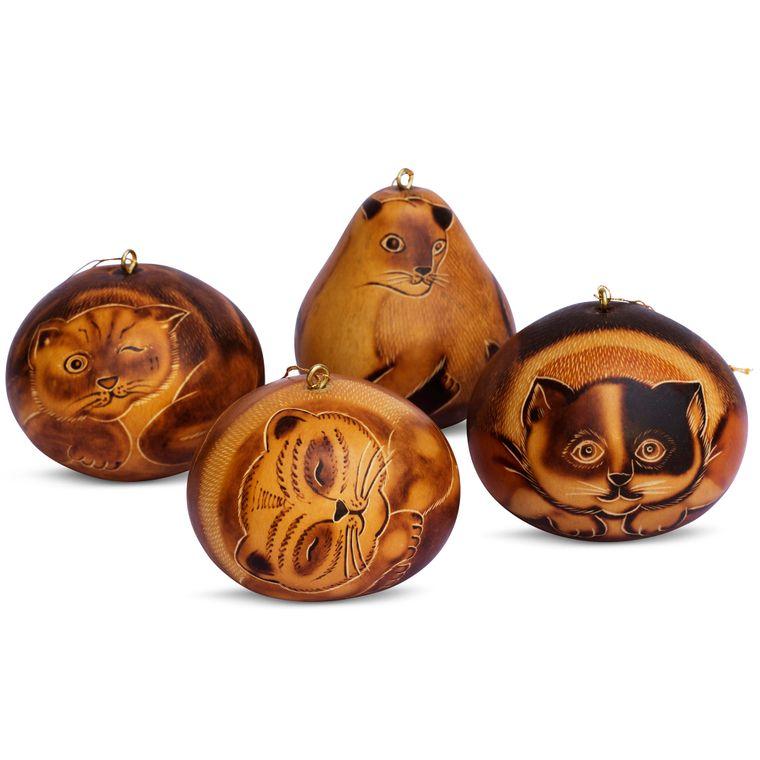 Cat - Gourd Ornament, assorted designs