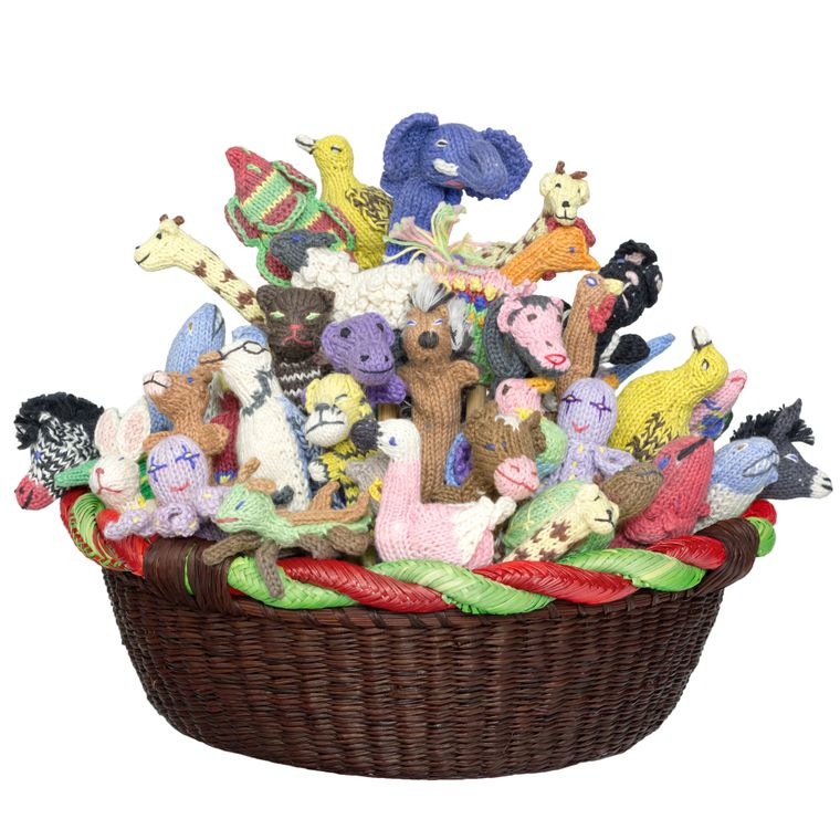 Animal Mix Natural Dye Organic Cotton Finger Puppet (sold in 100's)