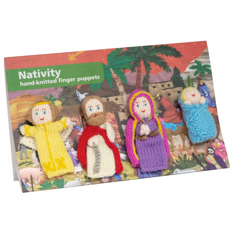 Nativity Pack of 4 - Organic Cotton Finger Puppets