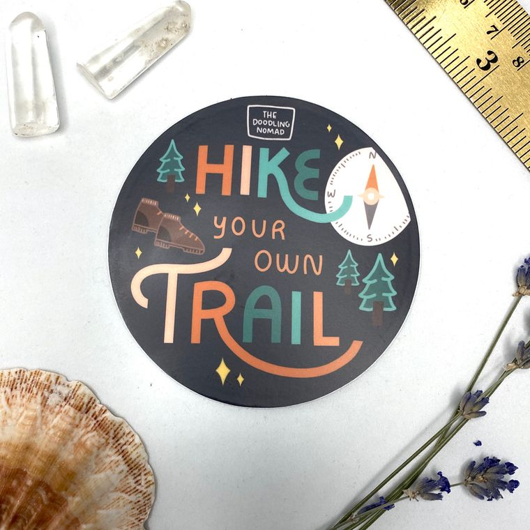 Hike Your Own Trail Vinyl Sticker