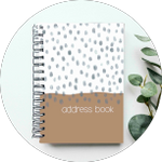 Address Book - Frosted Plastic