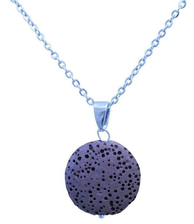 Purple Lava Stone Essential Oil Necklace