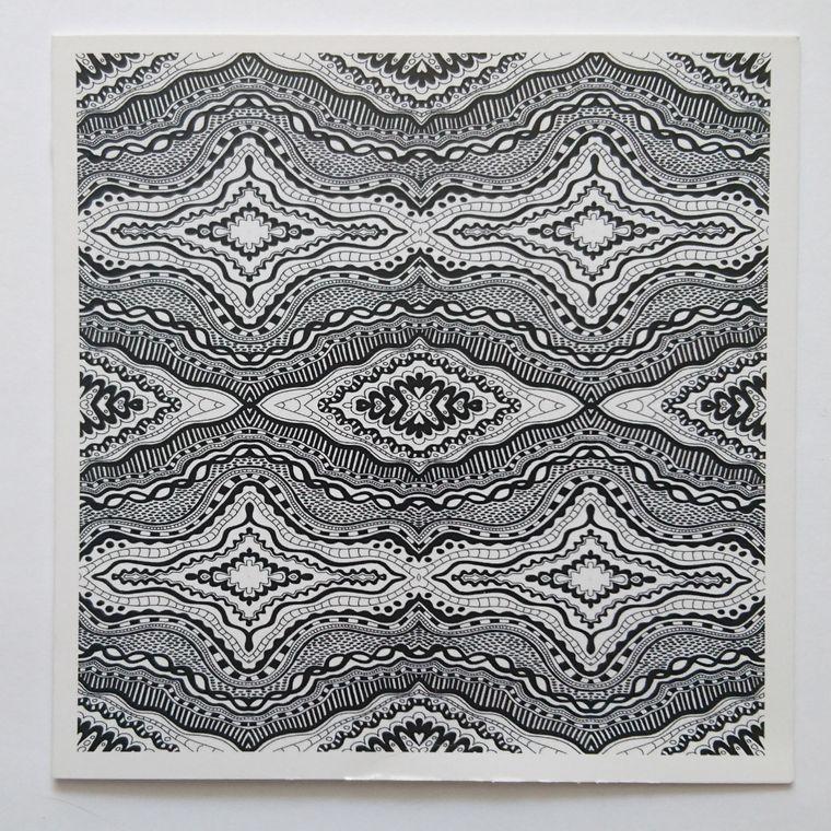 B/W Pattern Card